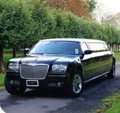 Stretched Black Limousine Chrysler 300c, limo hire in Bristol, Bath, Avon and the South West