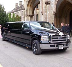 Stretched Ford Excursion American Limousine, limo hire in Bristol, Bath, Avon and the South West
