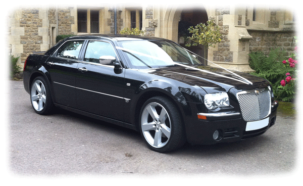 Black Chrysler 300c Limousines for hire in Bristol, Bath, Avon and the South West