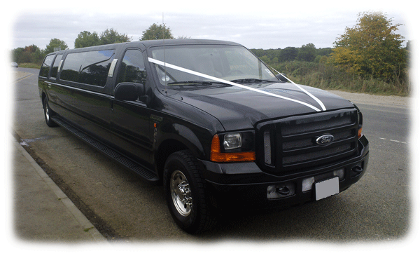 Stretched Ford Excursion Limousines for hire in Bristol, Bath, Avon and the South West